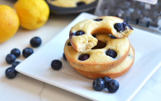 Paleo Blueberry Lemon Donuts