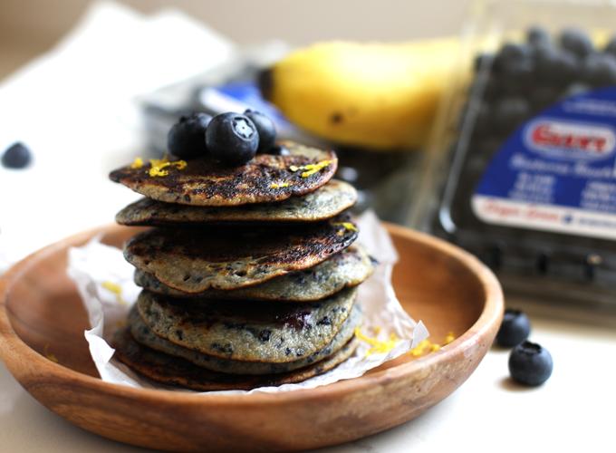 Paleo Blueberry Muffin Pancakes