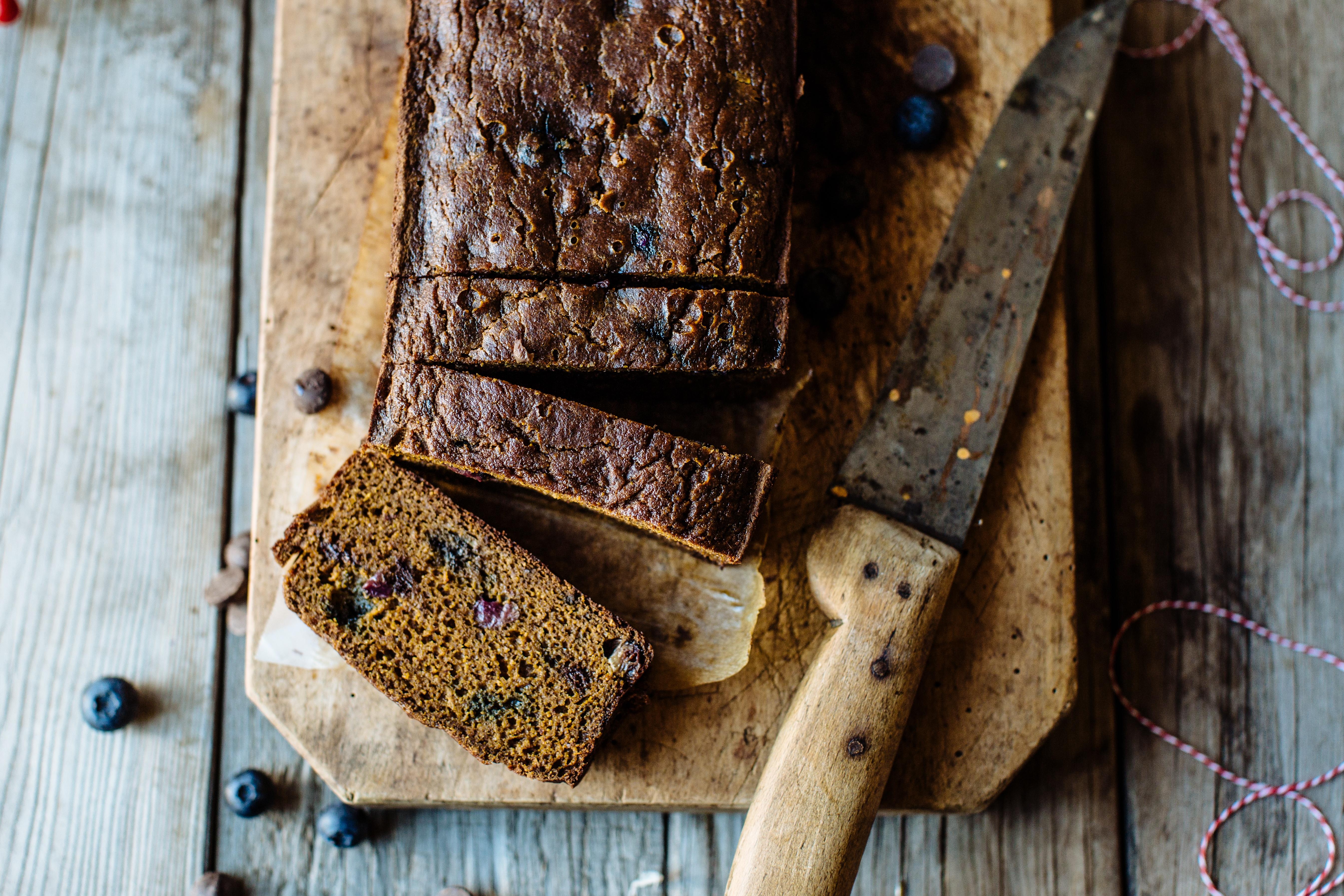 Blueberry and Dark Chocolate Chip Pumpkin Bread