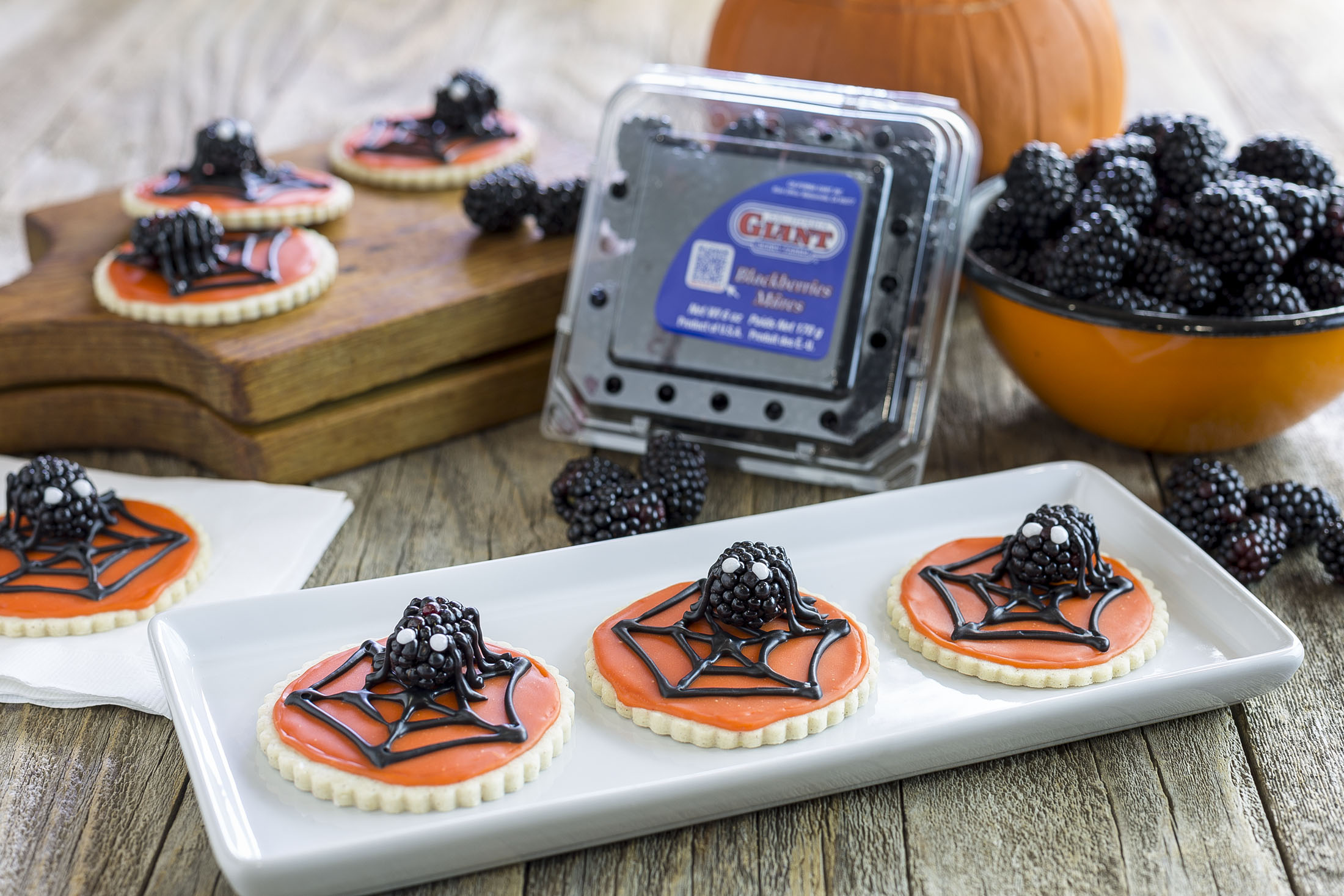 Scary Berry Spider Web Cookies