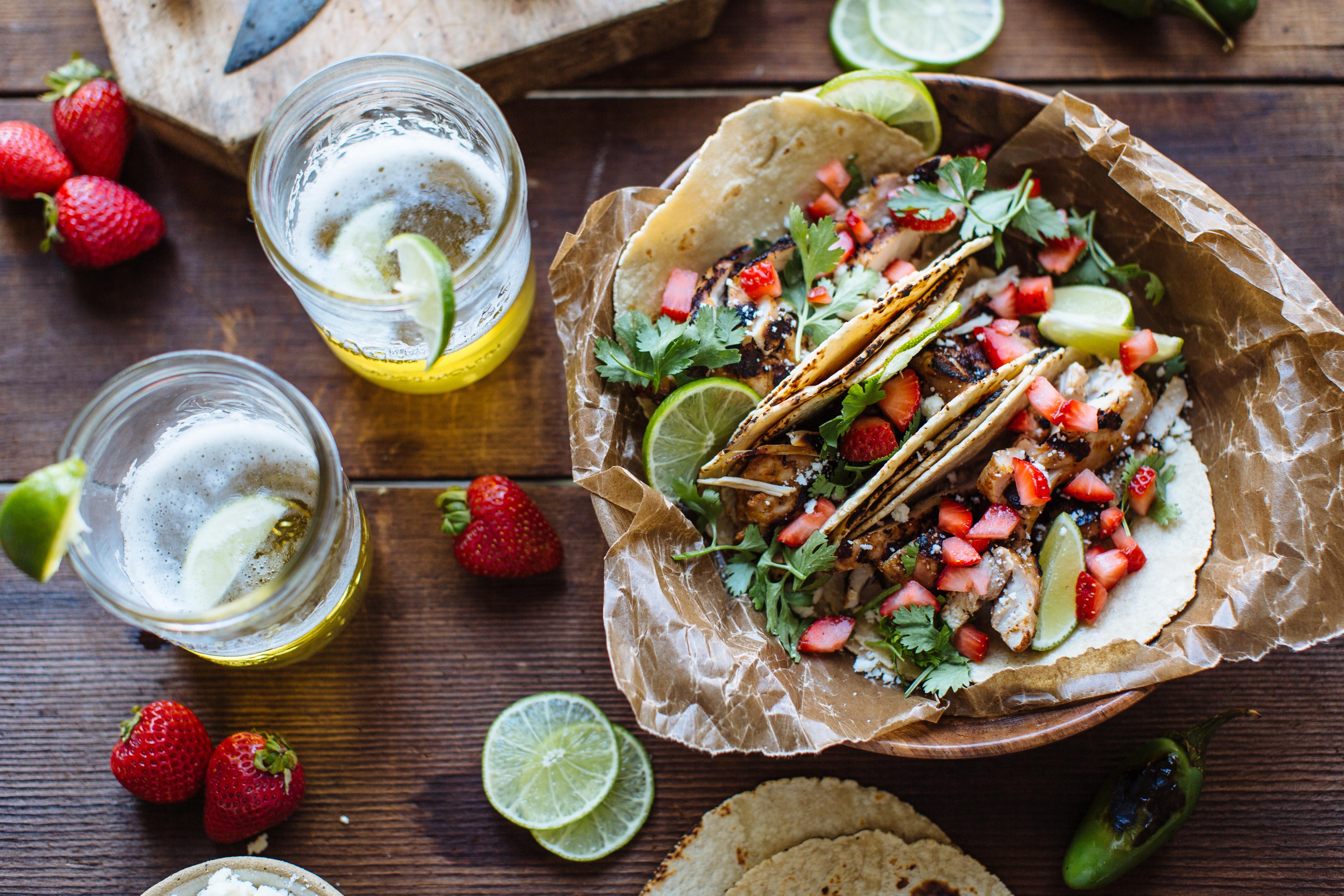 Strawberry & Paprika Chicken Fajitas