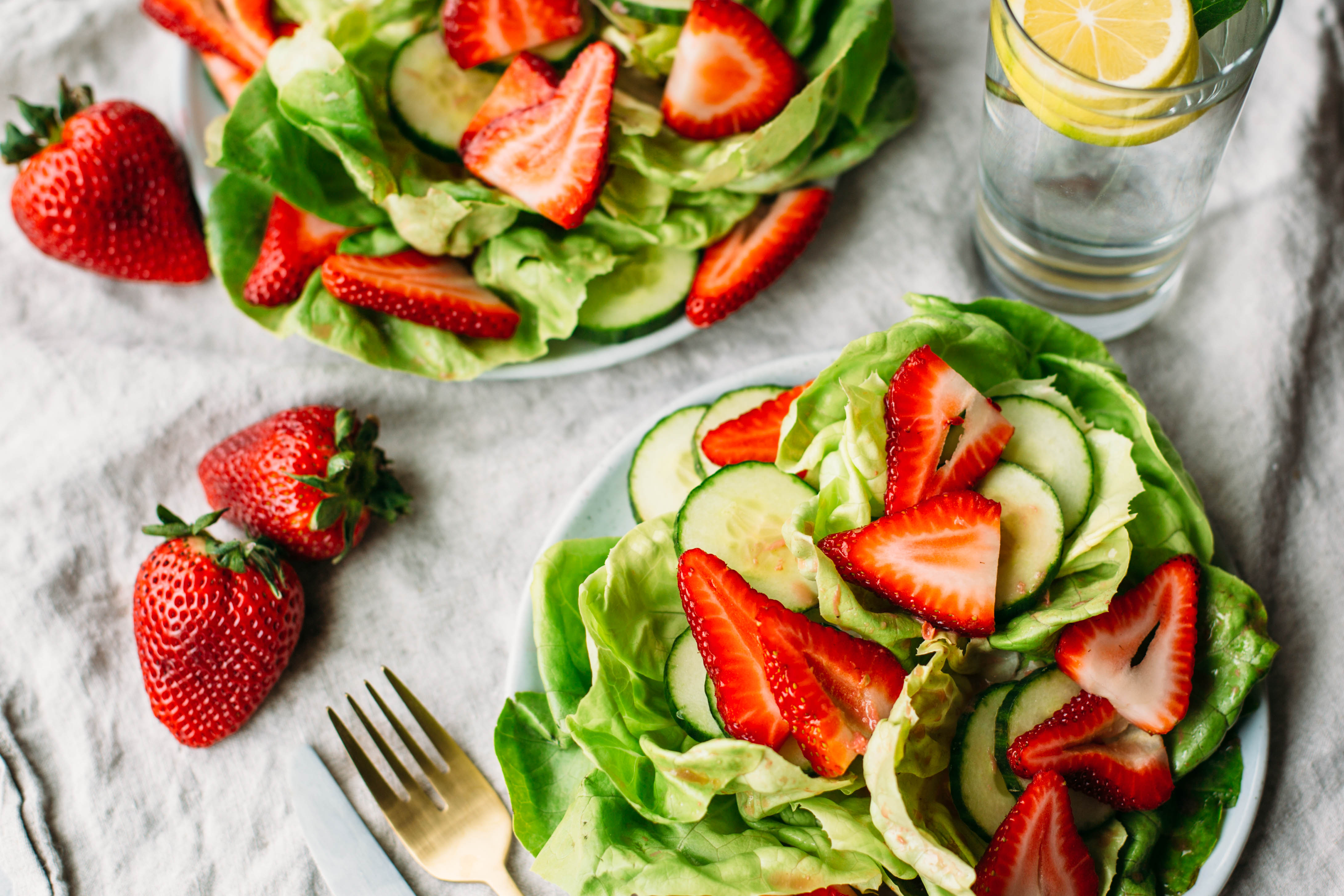 Strawberry Vinaigrette + Simple Salad